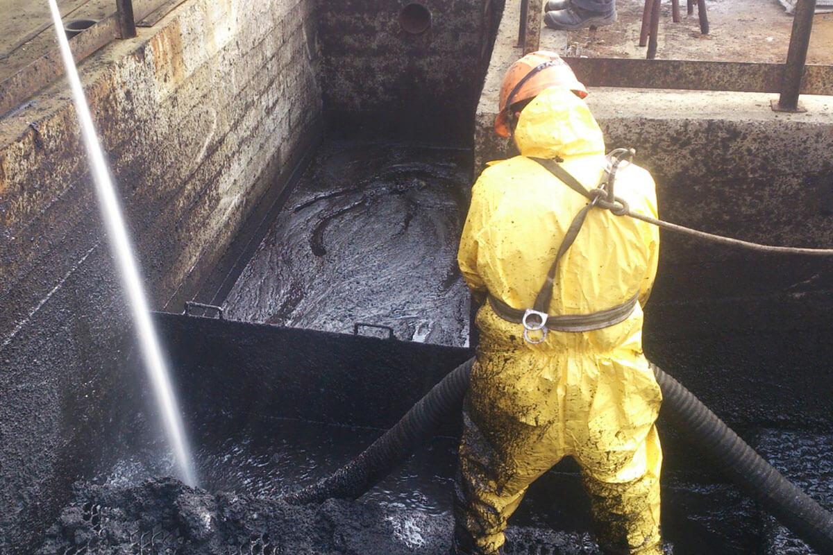 Зачистка резервуара от мазута